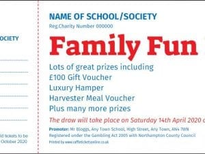 Fundraising Raffle Tickets - Raffle Ticket Printers - Draw Tickets