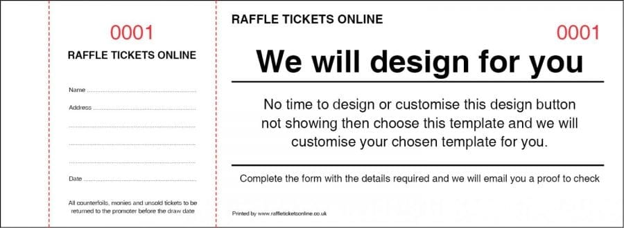 Raffle Tickets Online Template