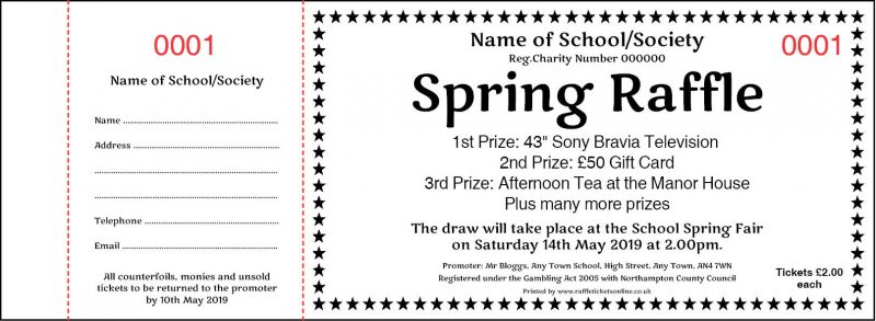 Spring Raffle Tickets