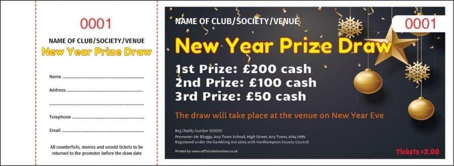 New Year Raffle Tickets - Draw Ticket Printers - Raffle Ticket Printer
