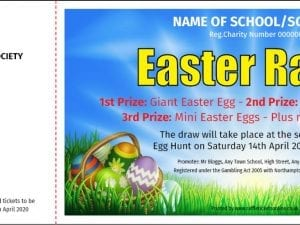 Easter Raffle Tickets - Raffle Ticket Printers - Raffle Ticket Printing