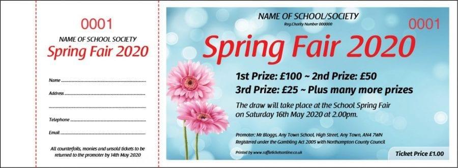 Spring Raffle Ticket Template