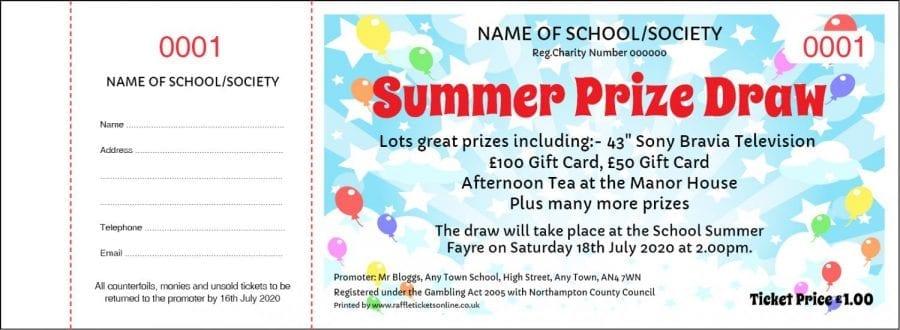 Summer Party design for PTA & School Raffles