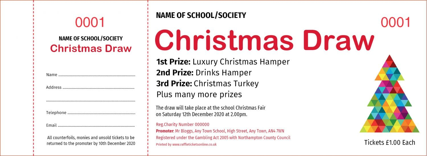 Christmas Raffle Tickets - Draw Ticket Printers - Raffle Tickets
