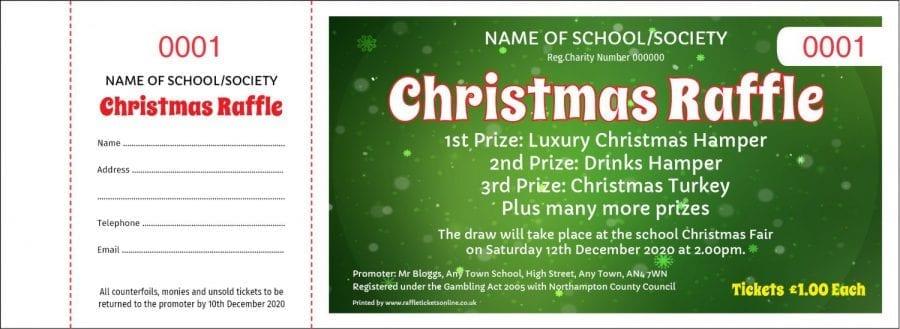 Christmas Raffle Tickets - Draw Ticket Printers - Raffle Tickets
